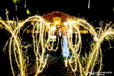 Happy Fourth of July! | A Wedding Night with Fireworks and Sparklers / follow @True Photography Weddings
