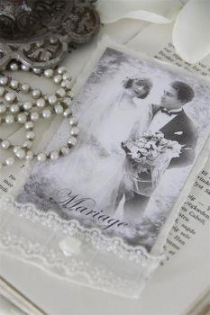 Die FEENSCHEUNE - Karte Hochzeit Nostalgie Handmade Jeanne d