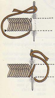 Bordados de Fina: Punto de cestería.- Bordados de Fina.