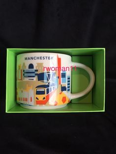 Starbucks Manchester YAH Mug England You Are Here Train Football UK Coffee Cup  | eBay