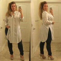 Fashion for plus size ladies Curvy Girl Fashion, Look Fashion, Fashion Outfits, Look Plus Size, Plus Size Model, Curvy Outfits, Casual Outfits, Plus Size Dresses, Plus Size Outfits