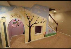 Playhouse under stairs