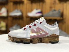bdb44823baa Buy the Nike Air VaporMax 2019 CNY Chinese New Year Pure Platinum Metallic  Gold-Gym Red online - is prefered retailer of biggest sports brands at best  ...