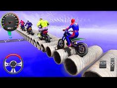 Superhero Bike Stunt GT Racing - Mega Ramp Bike Car Stunts - Android Gameplay - YouTube