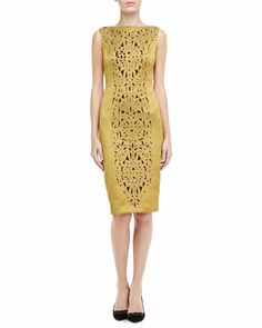 Birdie Embroidered Shimmery Dress by Tory Burch at Bergdorf Goodman.