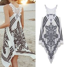 cute outfits for summer Summer Dress Girls Embroidery Lace Patchwork Asymmetrical Crochet Bohemian Dress Women Dress 6061 = 5737784001 Summer Work Outfits, Casual Summer Dresses, Casual Summer Outfits, Dress Casual, Summer Sundresses, Dress Summer, Dress Outfits, Fashion Dresses, Cute Outfits