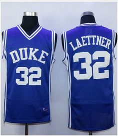 Duke Blue Devils  32 Christian Laettner Royal Blue Basketball Stitched NCAA  Jersey 6cdcd9037