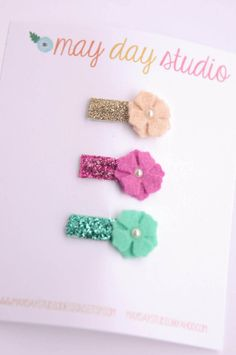 newborn baby/girls bitty hair clips by maydaystudiodesigns on Etsy Ribbon Barrettes, Hairbows, Felt Hair Accessories, Baby Girl Newborn, Baby Girls, Baby Hair Clips, Thing 1, Boutique Hair Bows, Baby Bows