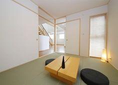 和室の建具をL型に開放するとキッチンとダイニング~リビングまで一体につながります。