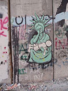Street art in Palestine West Bank Wall, Graffiti, Political Art, Feminist Art, Cute Backgrounds, Palestine, Banksy, Urban Art, Artsy Fartsy