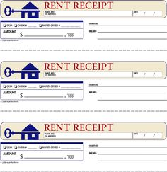 FREE Rent Receipts For Landlords | Rent Receipt This Standard Rent Receipt  Records Every Aspect Of