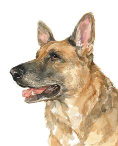 Custom Dog Portrait 8x10 watercolor painting