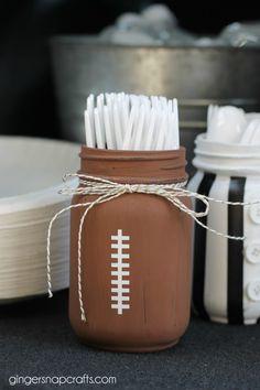 DIY Football inspired Mason Jars