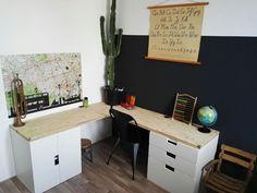 Ikea STUVA desk boys room, industrieel