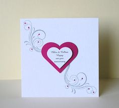 Love the CAS style of this card by Cards from Lynne`s Loft: Hearts and swirls