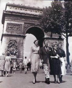 *Walt Disney and family in Paris