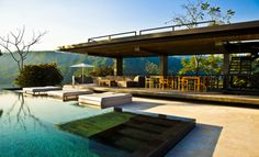 Chic Modern Terraces and Pool # entertaining#