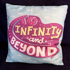 To Infinity and Beyond Disney Toy Story Quote Cushion Cover / Pillow Case 45cm x 45cm / 20 inches