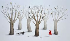 Little Red Riding Hood: Illustration by Anna Walker #illustration #little_red_riding_hood #wolf