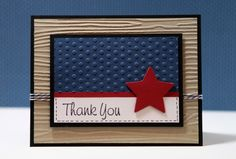 handmade card ... patriotic theme ... for Memorial Day but could change sentiment to Fourth of July ... luv the clean lines and precise placement of the elements ...  Stampin' Up!
