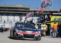 Kasey Kahne Photos Photos - Kasey Kahne drives the #5 Farmers Insurance Chevrolet through the garage area during practice for the Monster Energy NASCAR Cup Series Folds of Honor QuikTrip 500 at Atlanta Motor Speedway on March 4, 2017 in Hampton, Georgia. - Atlanta Motor Speedway - Day 2