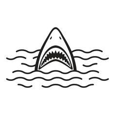 Shark open mouth Ocean Sea vector illustration vector art illustration Shark Mouth Open, Open Mouth Drawing, Mouth Tattoo, Shark Illustration, Shark Logo, Kids Graphics, Shark Tattoos, Megalodon, Great White Shark