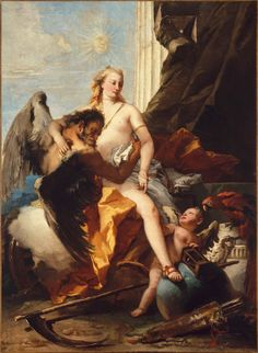 Giovanni Battista Tiepolo, Time Unveiling Truth, about 1745-50.