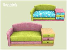 Severinka_'s Kids sofa 2x Snowbirds