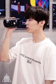 Wooshin (Kim Wooseok) - Behind The Scene of To My Youth Team Daejeon, Up10tion Wooshin, Korean K Pop, Kim Minseok, Cha Eun Woo, Cute Little Baby, My Youth, Kpop Boy, Handsome Boys