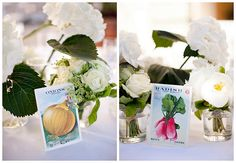 table numbers on vegetable plants