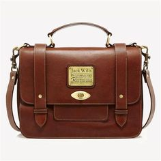 Penbury Satchel. Love anything brown leather.