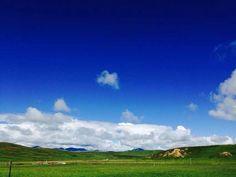 Ruo'ergai Prairie, China.  Just like the Windows Desktop.