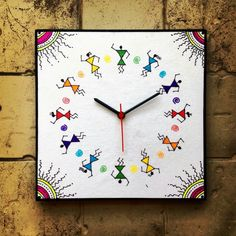 Warli (the tribal art form in Maharashtra) Clock. Home décor ideas that emerged while travelling. AAkruti Interiors is the dream venture of Amol Joshi (Malad, Mumbai). Whenever you need services of an interior designer to set up / renovate the interiors of your office / commercial space / residence, do contact AAkruti Interiors on 9967534621. www.aakrutiinteriors.co.in