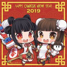 No photo description available. Chi Bi, Mobile Legend Wallpaper, China Dolls, Happy Chinese New Year, Sakura And Sasuke, Cute Chibi, Mobile Legends, Summer Crafts, A Team