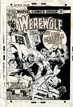 Werewolf By Night #15 Cover Art by Mike Ploog