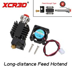 Cheap price US $10.74  XCR3D 3D Printer Parts Integrated Metal Long-distance Feed Hot End Kit Through-feeding Extruder 1.75mm with 12V 24V Cooling Fan  #XCRD #Printer #Parts #Integrated #Metal #Longdistance #Feed #Throughfeeding #Extruder #Cooling  #OfficeEquipment