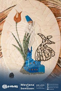 Mevlana ve Semazen 66*93 #Handemade 3D #Mozaik #el_yapımı  #doğaltaş