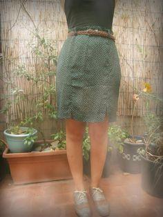 Falda verde topitos. http://sondemar.tictail.com/products/second-handsegunda-mano