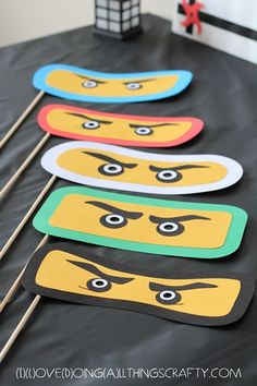 máscara ninjago