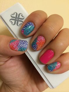 Punchy Puff and Haute Pink Jamberry Wraps! Check them out at www.MarySeto.JamberryNails.net!