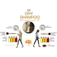 """""""DIY Dry Shampoo"""" by contrary-to-ordinary on Polyvore http://wellnessmama.com/5047/diy-dry-shampoo/"""