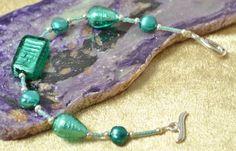 Verde Marino Murano Glass & Pearl Bracelet £21.40