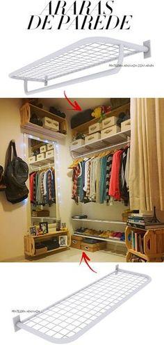 Home Design Interior and Outdoor Decoration Bedroom Storage, Bedroom Decor, Ideas Para Organizar, Room Closet, Closet Space, Closet Designs, New Room, Closet Organization, House Rooms