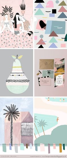 love print studio blog: A week of colour love! mood board
