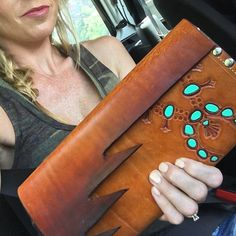 The clutch @alliefalcon custom designed for my wedding. Cowgirl style. Rodeo fashion. Women's Western Wear. Ranch style. Boho cowgirl.