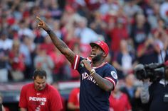 Cavaliers star LeBron James addressed Cleveland's crowd before the Indians defeated the Boston Red Sox 6-0 in Game 2 of the AL Division Series