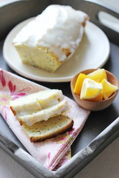 Glazed Lemon Poppy Seed Loaf::   Ideal for tea time or to end a meal, this glazed lemon loaf has the perfect amount of sweetness.