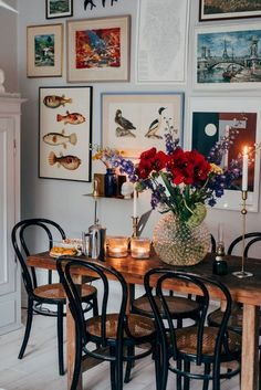 Hemma hos mig www. Dining room pictures for walls Houzz Contemporary ., Hemma hos mig www. Dining room pictures for walls Houzz contemporary dining table Houzz, Home Design, Modern Design, Flat Design, Design Crafts, Design Design, Modern Art, Bentwood Chairs, Room Pictures