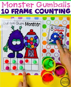 Looking for a fun, Preschool Monster Theme? These Play-Based Math and Literacy Centers and crafts are a huge hit with the kids. They love learning and playing with the hands-on centers and crafts. Kindergarten Math, Fun Math, Math Activities, Preschool Activities, Preschool Worksheets, Monster Theme Classroom, Classroom Themes, Family Math Night, Back To School Worksheets