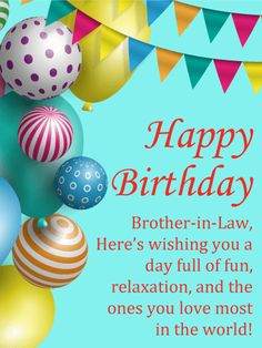 Celebrating You Happy Birthday Card For Brother In Law Colorful